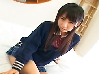 Yuka Osawa Hot Asian schoolgirl gets a double penetration