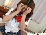 Mischievous Asian schoolgirl Hina Hinako gets hardcore anal fun