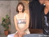 Yuma Asami Busty Asian model enjoys showing off her big boobs picture 7