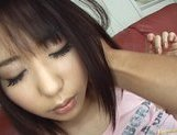 Mona Asamiya Lovely Asian chick who likes rubbing her pussy picture 12