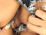 Rukia Mochizuki Asian model pokes her pussy with a dildo picture 13