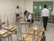 Japanese schoolgirl, Aimi Usui, receives a harsh fuck