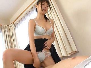 Amazing Asian bombshell Tsubomi treats cock professionally