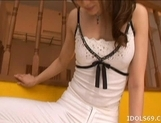 Akiho Yoshizawa Asian model ties up her boyfriend for some hot sex picture 11
