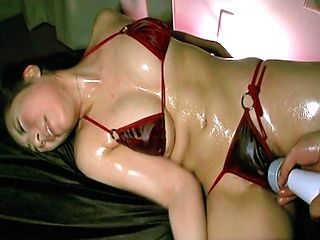 Sayuri Meike Naughty Asian model in lingerie gets her pussy tickled