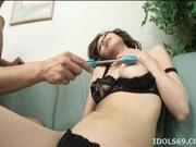 Natsumi Mitsu Naughty Asian model enjoys dildos and threesomes
