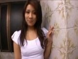 Rinka Aiuchi Naughty Asian model enjoys masturbating