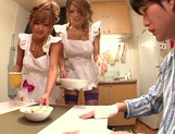Hot MILF Haruka Sanada and friend are naughty Asian maids