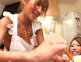 Hot MILF Haruka Sanada and friend are naughty Asian maids picture 15