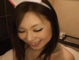 Gorgeous Japanese maid makes toy insertion and sucks rod on pov picture 103
