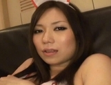 Gorgeous Japanese maid makes toy insertion and sucks rod on pov picture 30