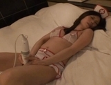 Gorgeous Japanese maid makes toy insertion and sucks rod on pov picture 42
