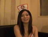 Japanese AV models enjoy fun in a nurses costume