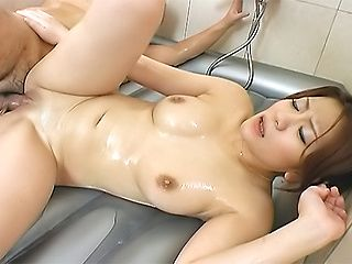 Karin and Seira Asian doll gets fucked in the tub