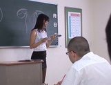 Hot sexy teacher Tsukasa Aoi arranges hardcore action gets bukkake
