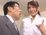 Yui Ooba Asian teacher gets bukkake session in school