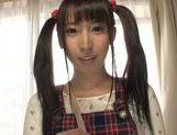 Pigtailed teen Yuuki Itano enjoying a tasty pov oral picture 12