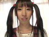 Pigtailed teen Yuuki Itano enjoying a tasty pov oral picture 13