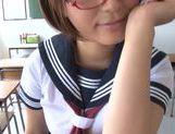 Busty schoolgirl Satou Haruka loves having sex in school