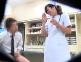 Horny Japanese nurse seen by secret spy cam