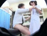 Horny Japanese nurse seen by secret spy cam picture 15