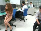 Naughty Asian Miyuki Yokoyama enjoys hardcore sex at work