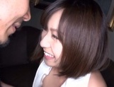 Wakaba Onoue sexy Asian gives a hot blowjob getting cum in her mouth