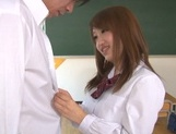 Busty Japanese teen angel Yui Hasebe enjoys every inch of cock