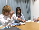 Cute Japanese AV model is fucked by her classmate picture 6