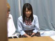 Cute Japanese AV model is fucked by her classmate
