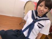 Savory Asian schoolgirl is screwed in the classroom