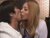Gorgeous Japanese milf Karen Uehara is a passionate cock lover