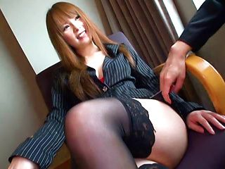 Risa Arisawa naughty Japanese chick has sex at the office