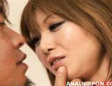 Lustful anal sex addicted diva Rika Sakurai gets double penetration