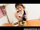 Adorable Asian gal in swimsuit Yuu Mahiru gets lovely anal plug