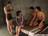 Saki and Miki Naughty Asian babes in a gang bang