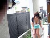 Busty Japanese seductress Naho Hazuki deepthroats a massive guy