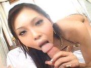 Mimi Asian doll enjoys sucking her friend's cock