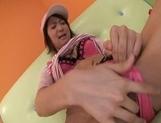 Miriya Hazuki Naughty lovely Asian model plays with a huge dildo picture 14