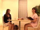 Glorious milf Fuuka Nanasaki has sex play with a lesbian picture 8
