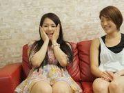 Sweet asians enjoying naughty threesome sex