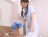 Horny Asian milf in white stockings Karin Aizawa rides cock picture 13