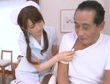 Horny Asian milf in white stockings Karin Aizawa rides cock picture 3