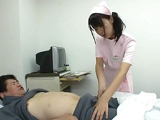 Playful nurse Tsubomi arranges a kinky toy insertion to her patient