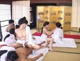 Japanese AV models are having an orgy in their costumes