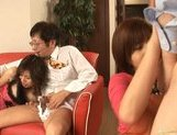 Riko Tachibana Asian gal has lesbian fun with a companion picture 14