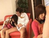 Riko Tachibana Asian gal has lesbian fun with a companion picture 15