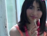 Asian chick with perky boobs Satomi Nomiya deepthroats two dicks
