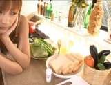 Kirara Asuka Japanese gal cooks in her hot apron picture 10