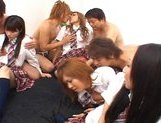 Japanese V models have fun with an orgy picture 7